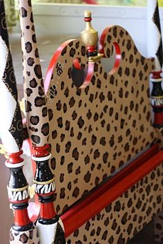 leopard bed for girls room #painted #furniture