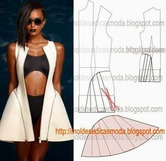 Pattern Cutting Styles / by Andy Jagger Sewing Dress, Dress Sewing Patterns, Sewing Clothes, Clothing Patterns, Mod Dress, Jacket Pattern, Top Pattern, Fashion Sewing, Diy Fashion