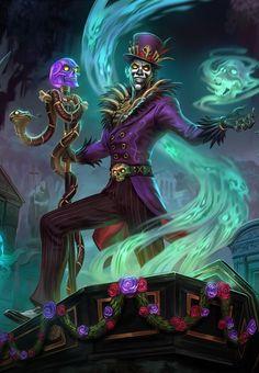 Baron Samedi, God of Life and Death Dark Fantasy Art, Fantasy Kunst, Dark Art, Fantasy Character Design, Character Concept, Character Inspiration, Character Art, Baron Samedi, Dnd Characters