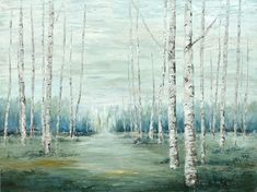 Before We Know It 36 x 48 Oil on Canvas Aspen Trees, Birch Trees, Golden Leaves, Serenity, Oil On Canvas, Fine Art, Artist, Crafts, Painting