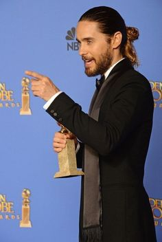 """And Mr. Jared """"Man Bun"""" Leto 