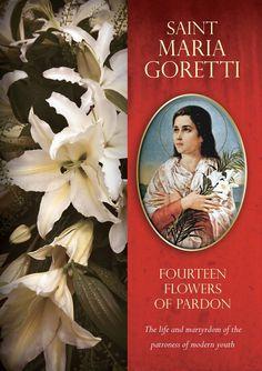 Saint Maria Goretti: Fourteen Flowers of Pardon (DVD) Catholic Saints, Roman Catholic, Santa Maria, St Maria Goretti, St Rita Of Cascia, Works Of Mercy, Book Gifts, Flowers, Chocolate Syrup