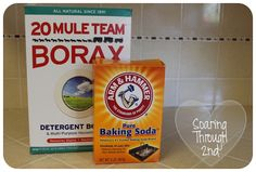 Grout cleaner:   3T baking soda  3T borax  3T water  Leave on grout and then scrub