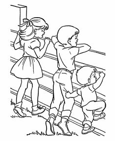 Farm Fun and Family Coloring Page, free printable Farmyard fence of farm animals coloring page sheets. Tractor Coloring Pages, Family Coloring Pages, Farm Animal Coloring Pages, Preschool Coloring Pages, Online Coloring Pages, Coloring Pages For Girls, Coloring Book Pages, Coloring For Kids, Coloring Sheets