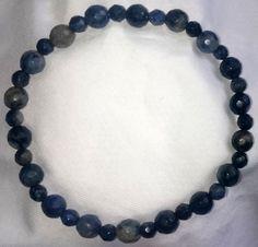 Fazetierte Blau Jaspis Heilstein Armband Bracelet
