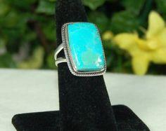Anillo turquesa plata reciclada birthstone por BelindaSaville
