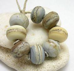 Organic Handmade Lampwork Glass Bead -  Sand and Fog chunky round beads by mermaidglass on Etsy https://www.etsy.com/listing/83439533/organic-handmade-lampwork-glass-bead