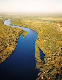 Rio Preguiças is part of Lençóis Maranhenses National Park.