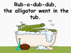 Free: Wishy Washy Zoo book....share a book with your students about zoo animals getting washed in a tub.  Here's a pic of the alligator going in the tub. This is a spin off of Joy Cowley's Mrs. Wishy Washy. Freebie For A Teacher From A Teacher.  Enjoy! Regina Davis aka Queen Chaos at Fairy Tales and Fiction By 2.