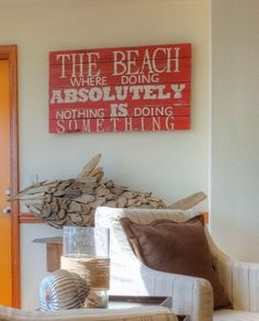 DIY Art with Sayings and Quotes Inspired the Beach.