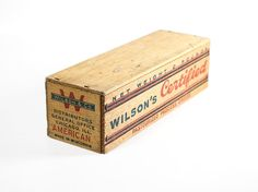 Wilson's Wooden 2 lbs American Cheese Box, Vintage Old Rustic Country Store Advertising