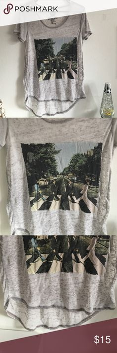 •The Beatles• Abbey Road Sheer High Low T shirt• Super cute w a tank top underneath or as a beach coverup! Size medium. Only worn 2 times. Good condition 💕 Tops