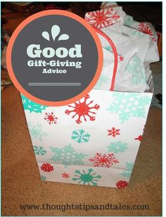 When I was in my early 20s and at my first real job, I wanted to buy a Christmas gift for my boss. My mom gave me gift-giving advice that I use to this day.