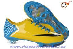 new styles 9b431 e881b Nike Mercurial pas cher Vapor X FG Orange Noir Bleu FT954 Vape