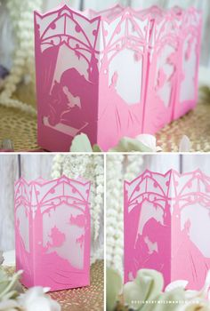 FREE Sleeping Beauty Paper Lantern - Designs By Miss Mandee. Capture the iconic moment of true love's kiss with this delicate, beautiful paper lantern! Perfect for parties, room decor, or gifts for Disney-lovers of all ages.