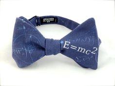 Einstein Physics Blue Bow Tie bowtie bow ties bowties