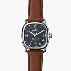 A versatile watch that can easily be dressed up or down, The Guardian watch has all the defining traits of a Shinola timepiece – wire lugs, signature screw-down crown, soft surfaces, and a simple, beautiful dial – in a brand new rounded square shape. Named for the iconic building that sits at 500 Griswold Street in Detroit, The Guardian is both strong and substantial — celebrating industrial excellence, creative thought, and continuous innovation.