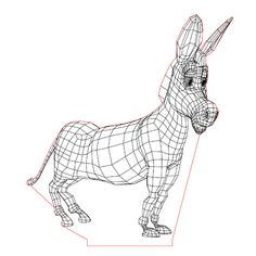 Donkey 3d illusion lamp plan vector file for CNC - 3bee-studio