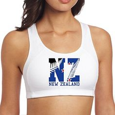 Women's New Zealand Flag 2016 NZ Fern Leaf Racerback Yoga Sports Bra *** You can find out more details at the link of the image.