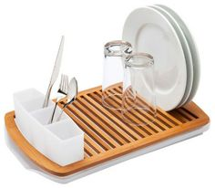 contemporary dish racks by The Container Store; Maybe this is the low-profile dish rack I'm looking for.