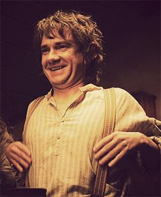 [Suspenders gif.] I have a hard time believing Martin had never read Tolkien before getting the part.  He's a natural with Bilbo's nuances. -G.H.