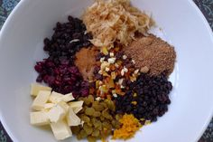 Healthy Mincemeat ingredients