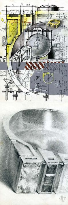 VLAD GLYNIN jewellery - vladglynin.com - Men's ring, 1995. Yellow gold, diamonds, sapphires / Кольцо мужское, 1995 г. Жёлтое золото, бриллианты, сапфиры / Anello da uomo, 1995. Oro giallo, diamanti, zaffiri