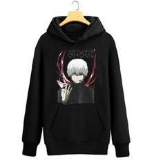 Camplayco Tokyo Ghoul Logo Cosplay Black Hoodies Pullover Warm Coat Size M *** Want to know more, click on the image.
