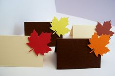 Handmade Maple Leaf Placecards