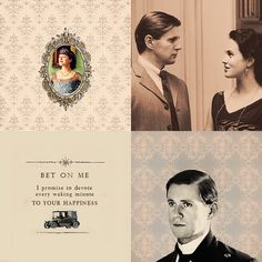 """""""Bet on me. I promise to devote every waking minute to your happiness."""" -Branson to Lady Sybil"""