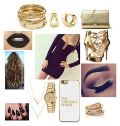 Untitled #85 by incredibly on Polyvore featuring polyvore mode style GUESS Michael Kors ABS by Allen Schwartz Gucci BERRICLE SPINELLI KILCOLLIN BaubleBar fashion clothing