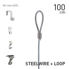 Artiteq Steelwire 2mm + Loop 100 to 300cm