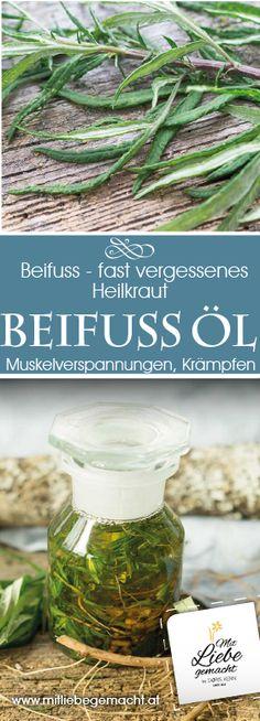 Beifussöl bei Muskelverspannungen, Krämpfen #heilkräuter #beifuss #kaltefüsse #hausmittel #kräuter #muskelverspannungen #mitliebegemacht