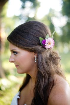 Simple, but elegant #Hairstyle on #SMP | Simple Color Photography | See the wedding here: http://www.stylemepretty.com/2013/12/19/russell-crossroads-wedding/