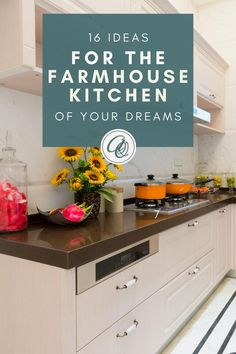 Looking for farmhouse kitchen decor? Read our 16 Ideas for the Farmhouse Kitchen of Your Dreams before  you shop. Fuse your creative edge to our handpicked tips and inspirations to build the topmost farmhouse kitchen design that will hype up your kitchen experience. So, roll up your sleeves and prepare to jot down some notes as we reveal the perfect ideas to up-tier your farmhouse kitchen. Get the best farmhouse kitchen ideas and more at anniandoak.com. #farmhousekitchendecor Vintage Farmhouse Sink, Fireclay Farmhouse Sink, Copper Farmhouse Sinks, Farmhouse Sink Kitchen, Kitchen Sinks, Modern Farmhouse Kitchens, Farmhouse Design, Vintage Kitchen, Kitchen Interior