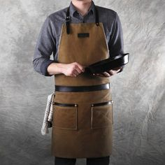 Hardmill Rugged Apron: A former professional chef's ideal apron, made in America from waxed canvas and selvedge denim