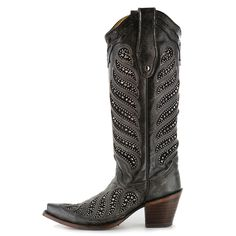 """Corral Women's 14"""" Crystal Inlay Snip Toe Boots"""