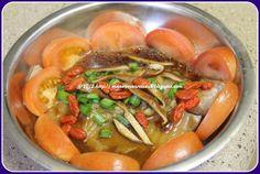 """紫""的日记 The Diaries: 枸杞清蒸鱼肉 Wolfberry steamed fish"