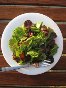 Baby Greens and Haricots Verts Salad