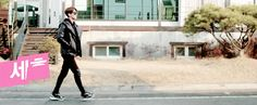 Just Sehun walking normally down a street... < isn't this how everyone walks down the street? Lol