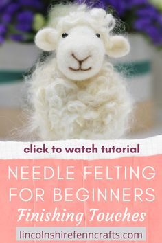 Ever wondered how to create those cute finishing touches to your needle felting projects? It's so simple and this needle felting tutorial will show you how. Ideal for needle felting beginners or those of you that want to improve your skills. Needle Felting Kits, Needle Felting Tutorials, Needle Felted Animals, Felt Animals, Nuno Felting, Indoor Crafts, Felt Fairy, Felted Slippers, Wool Felt