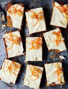 Porkkanakakku pellillä | Leivonta, Juhli ja nauti | Soppa365 Just Eat It, Sweet Recipes, Camembert Cheese, Dairy, Sweets, Baking, Ethnic Recipes, Desserts, Food