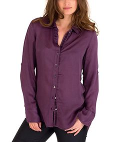 Loving this Mulberry Button-Up on #zulily! #zulilyfinds