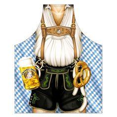 German Oktoberfest Apron - Male Lederhosen