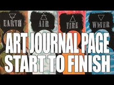 How to: Art Journal Page : Elements - YouTube