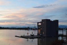A houseboat at the end of Ladner Trunk Road.
