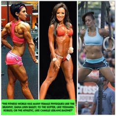 Women & Weightlifting : 6 Myths Busted and the truths revealed Which physique is your favorite: 1,2,3 ?   Click the link to learn how to get a toned, sexy fit feminine body on RippedNFit