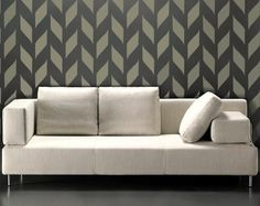 STENCIL for Walls  Woven Pattern  Allover by OliveLeafStencils, $34.95