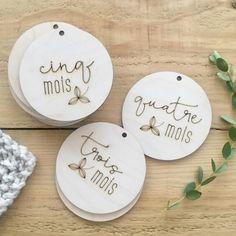 Pastilles jalons pour nouveau-nés - France Mars - Kits - Newborn Plywood Milestone Discs