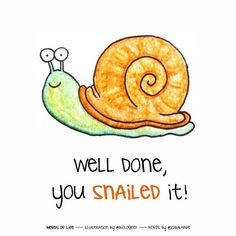 Well done, you snailed it!